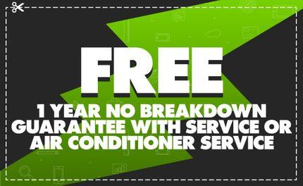 Free 1 Year No Breakdown Guarantee